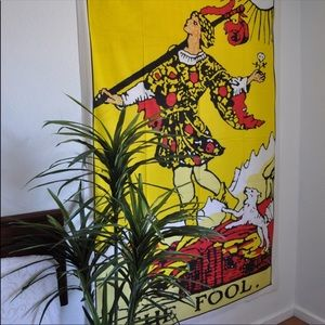 The fool tarot card tapestry New